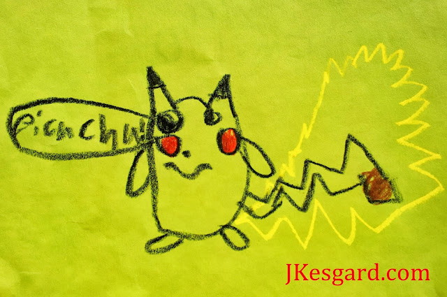 An epic drawing of Pokemon Pikachu by one of my students