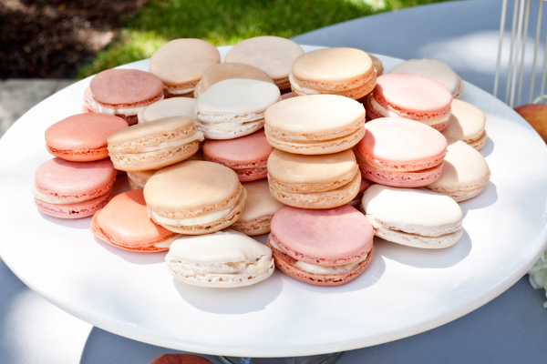 pink peach macarons rose - photo #11