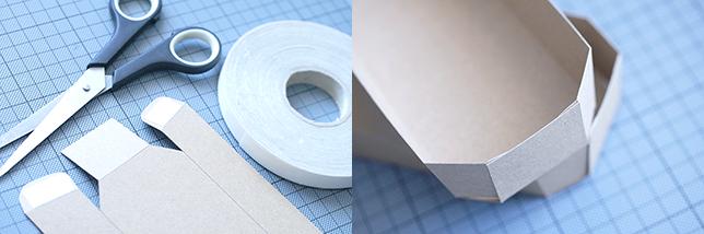 Anleitung für eine Schale aus Kraftpapier Teil 2