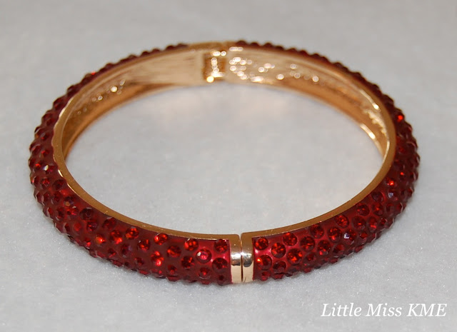 Sal Y Limon, bracelet, red, sparkle