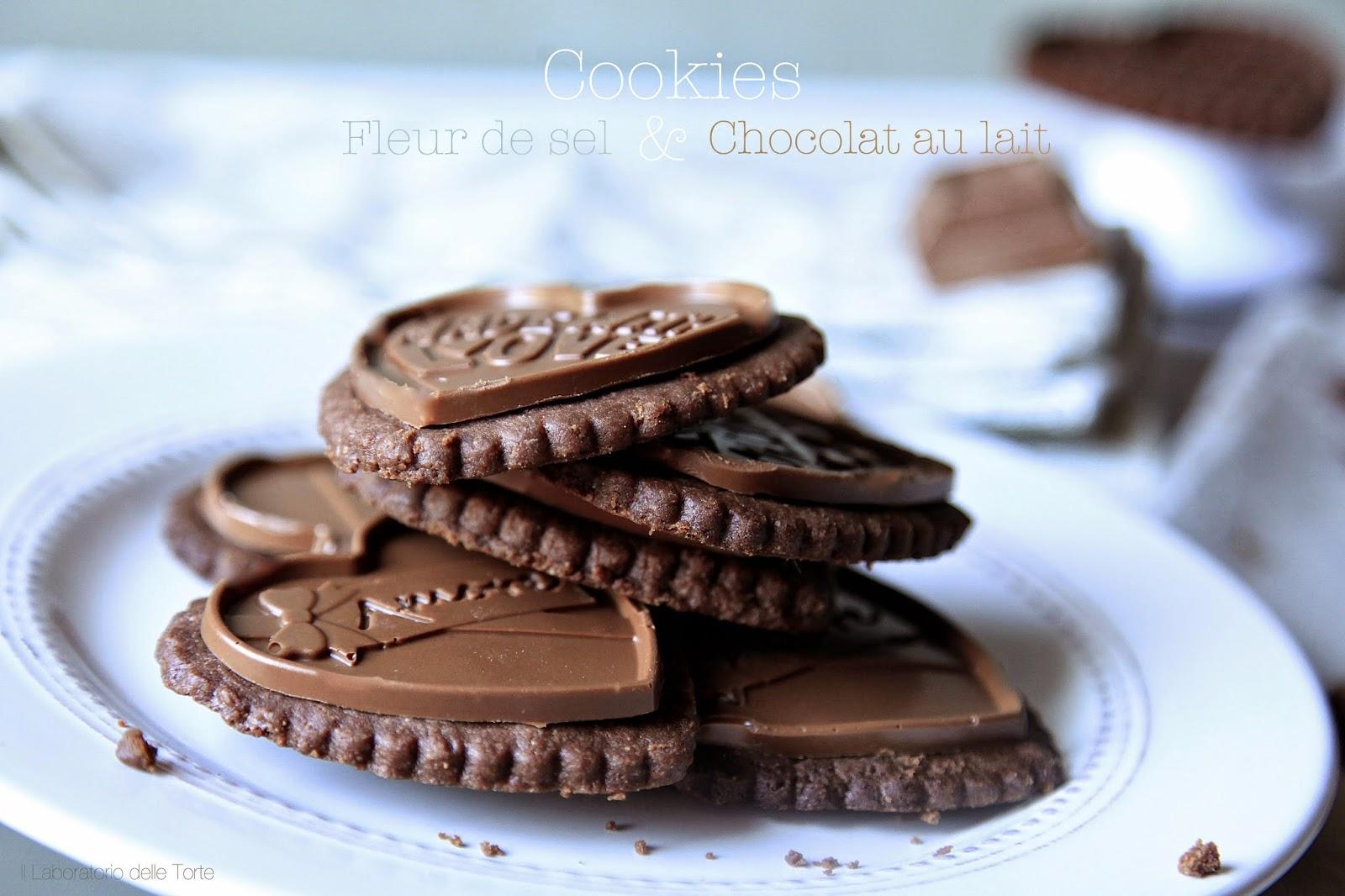 biscotti di frolla al cioccolato e fior di sale
