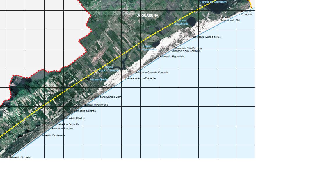 Imagen de satelite de JAGUARUNA - POSIÇÃO DE TODOS OS BALNEÁRIOS