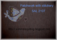 patchwork with stitchery SAL