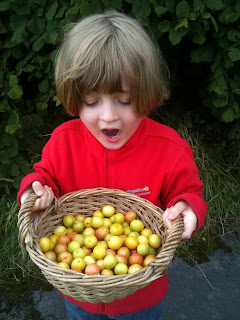 The joy of foraging with kids.