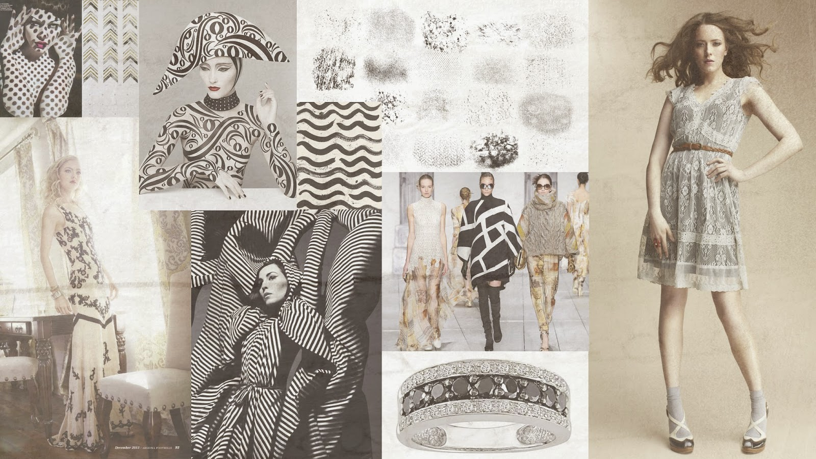 Black Cream Fashion Mood Board