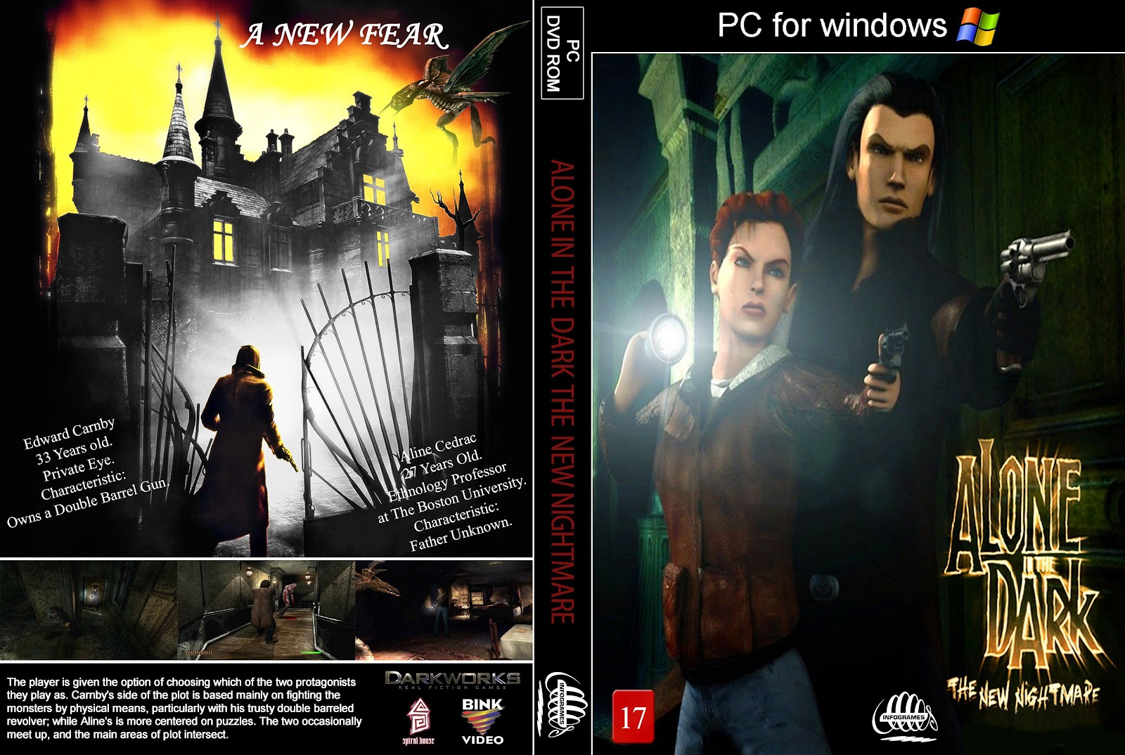 Capa Alone In The Dark The New Nightmare PC