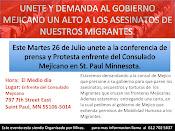 Pueblo Unete a Demandar un Alto a los ASESINATOS de Migrantes en Mejico