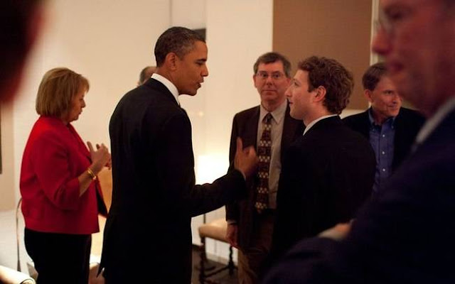 Encontro entre Mark Zuckerberg e o presidente dos Estados Unidos