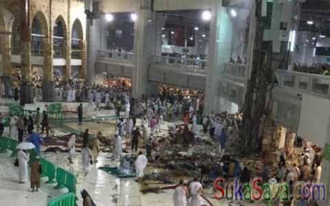 Korban yang berjatuhan di area Masjidil Haram