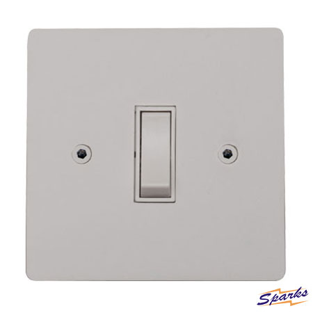 Paintable Switch, Primed White Single Switch 20A