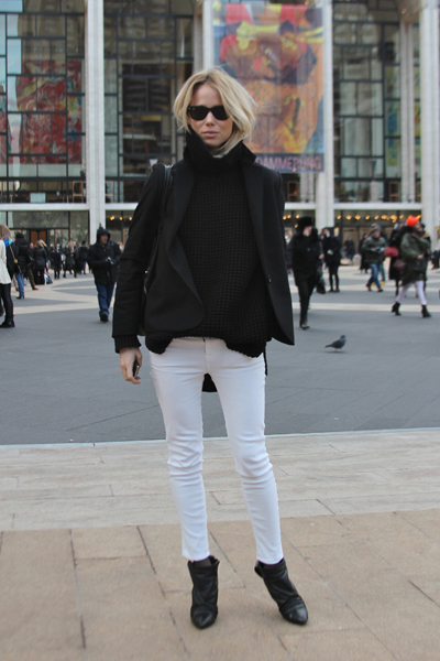 only boring people are bored white jeans in winter