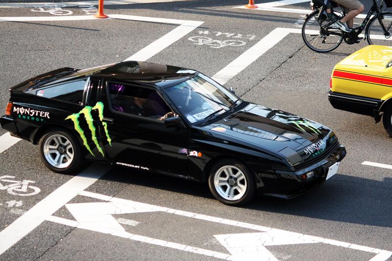 Mitsubishi Starion, sportowy samochód, japonia, JDM, tuning, zdjęcia, czarny, black