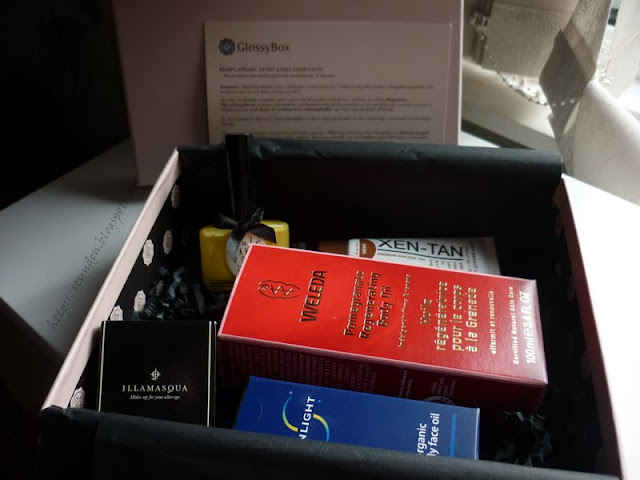contents of June Glossybox