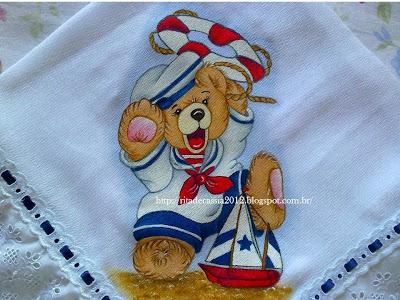 Fralda manta urso marinheiro!!!!!