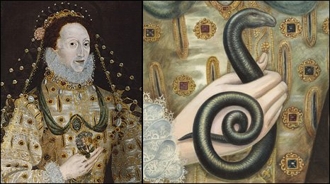 Elizabet I with a serpent