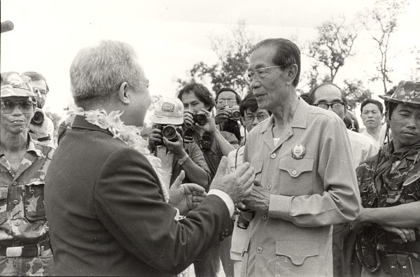 Sihanouk. Photo archive de presse 1984
