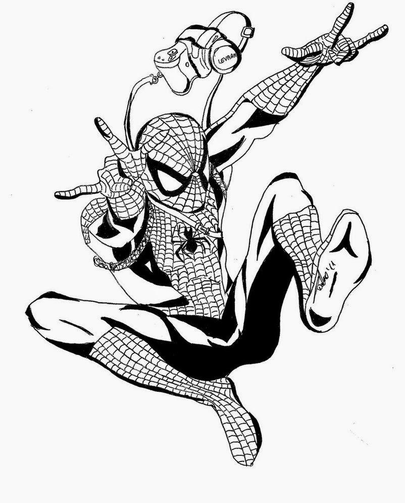 Spiderman da colorare for Spiderman da colorare pdf
