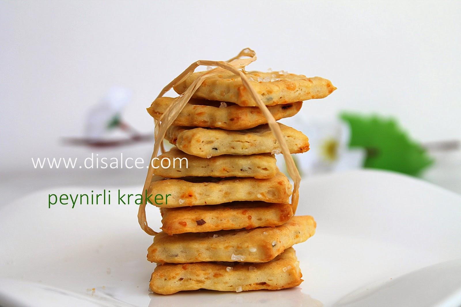 ev yapımı peynirli kraker