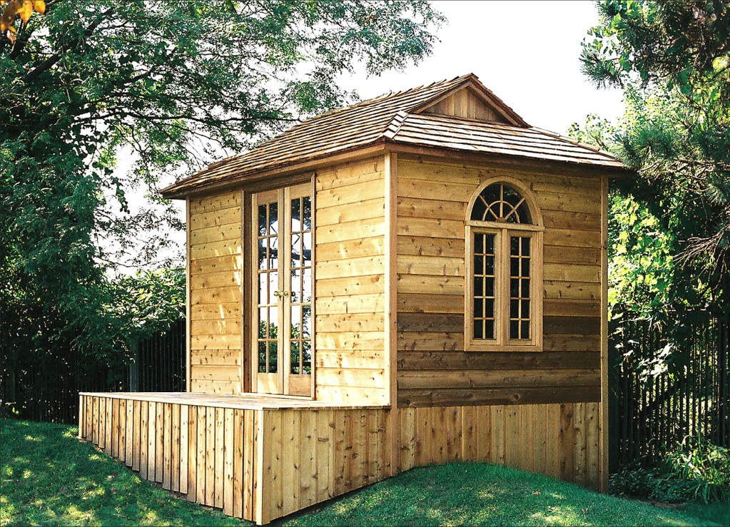 Small prefab homes prefab cabins sheds studios cedar for Small homes and cabins