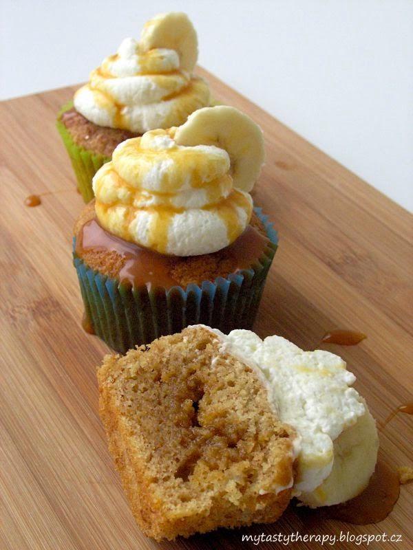 banoffee cupcakes neboli banamelové cupcakes