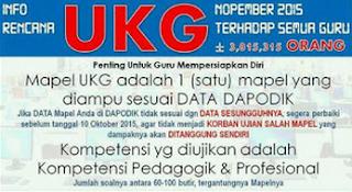 Jadwal UKG 9-27 November 2015