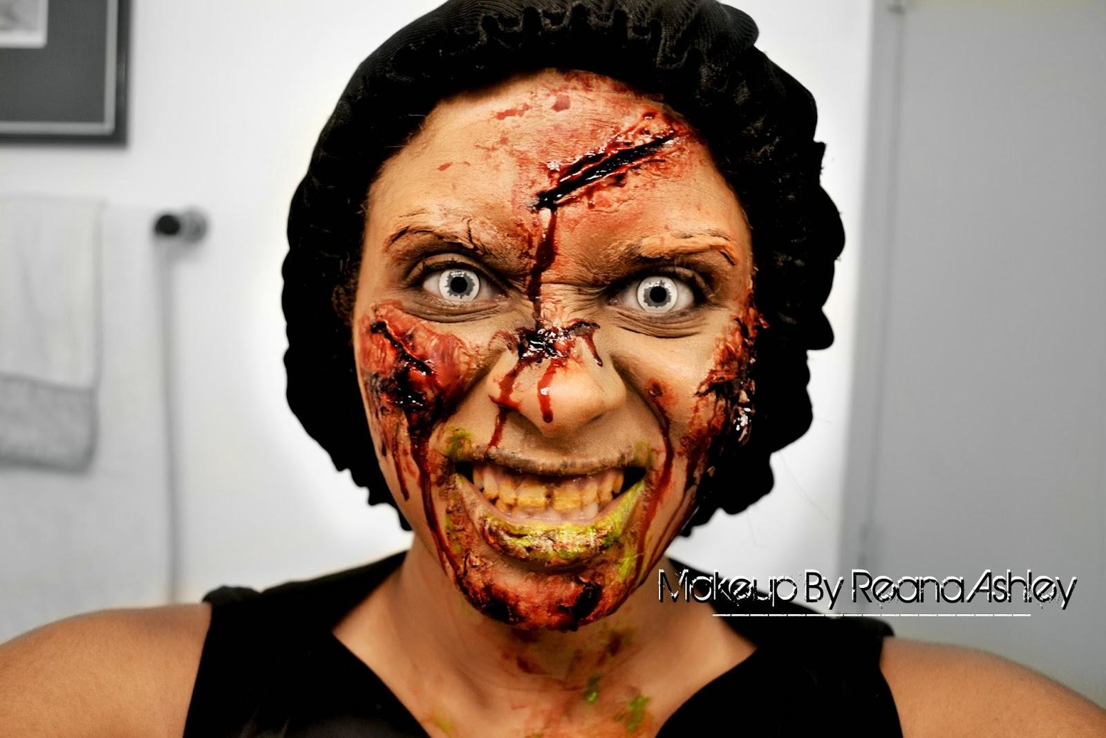 Luminess Airbrush Makeup Exorcist Halloween Tutorial | REANA ASHLEY