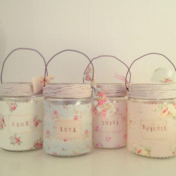 Vidros decorados com tecido decora o e inven o - Diy frascos decorados ...
