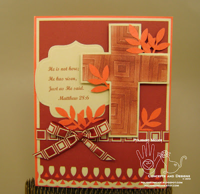 Picture of handmade Bible Verse Easter Card