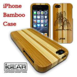 Custom Engraved iPhone Bamboo Case – Racer