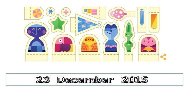 23 Desember 2015 Logo Google Doodle Hari Libur Libur Apa ?