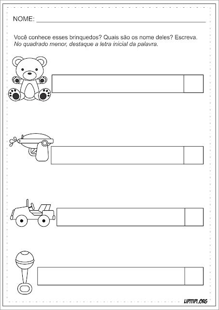 Auto Ditado Dia das Crianças Atividades