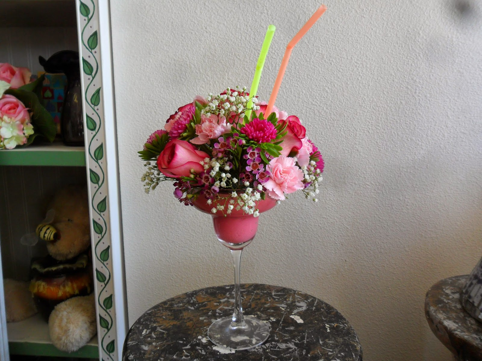 this adorable strawberry margarita flower arrangement is perfect for a 21st birthday it is also great for a best friend or loved one on their birthday or