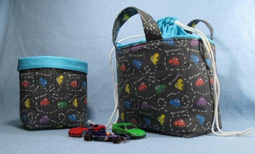 Fabric Storage Baskets for Boys ~ Threading My Way