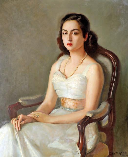 Retrato de Mujer, Victor Moya Calvo, pintor español