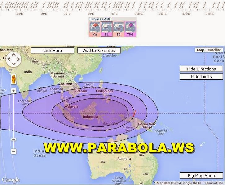 satelit parabola beam Indonesia Express am3 c band