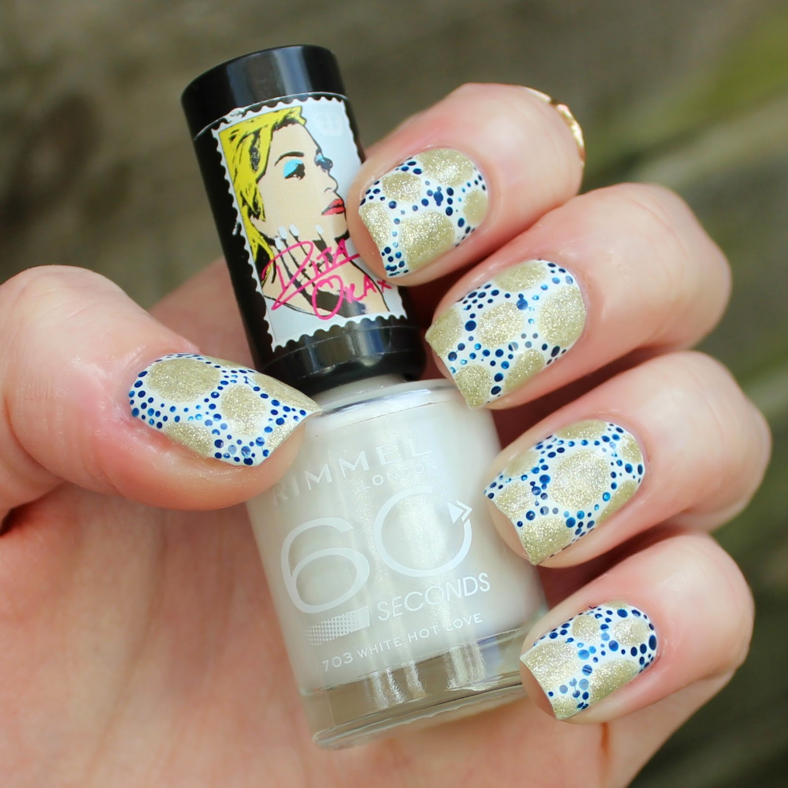 32 Gorgeous Nail Art Images Inspired By Summer Motifs: Dahlia Nails: Rebecca Atwood Inspired Nail Art