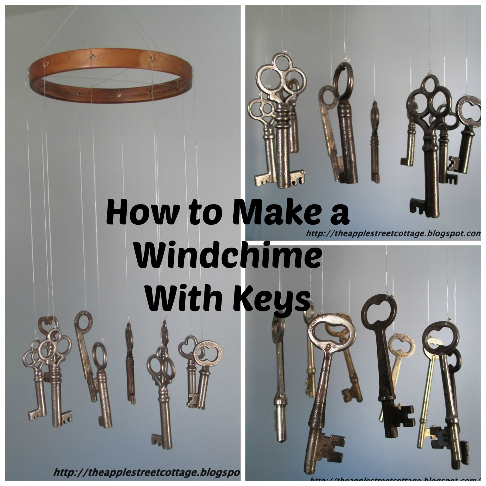 How To Make A Wind Chime The Apple Street Cottage How To Make A Windchimewith Keys