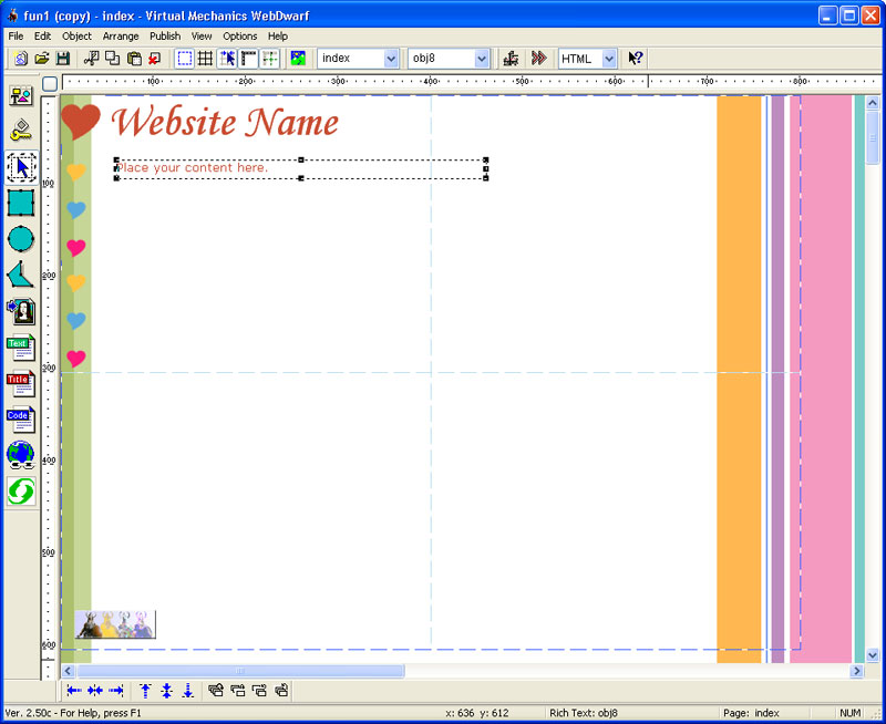 Web Page Maker Screenshot