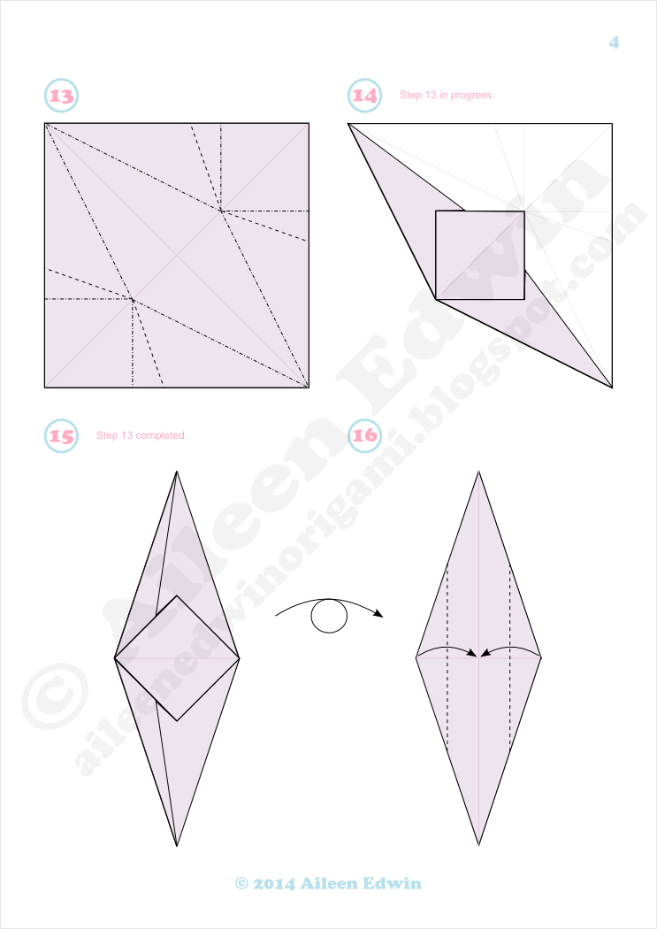 Origami Clam Shell Diagrams Aileen Edwin