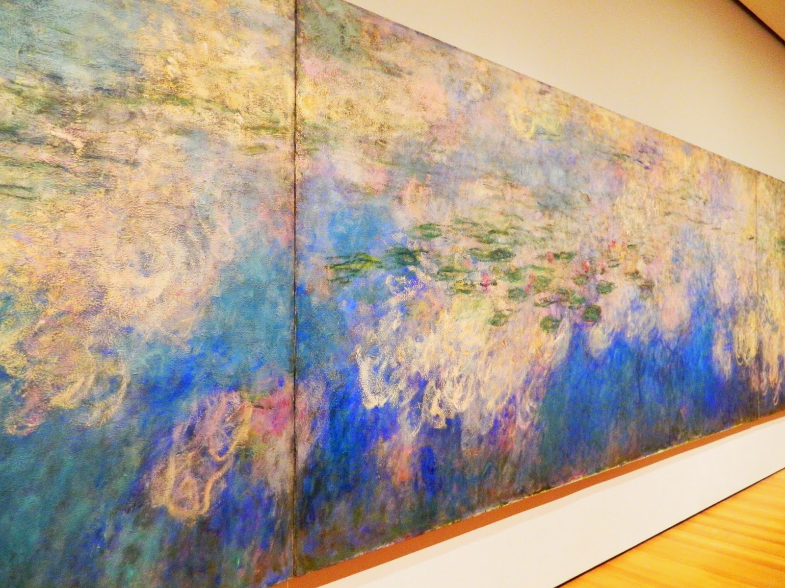 Claude Monet, Water Lilies mural big water pond sky nature