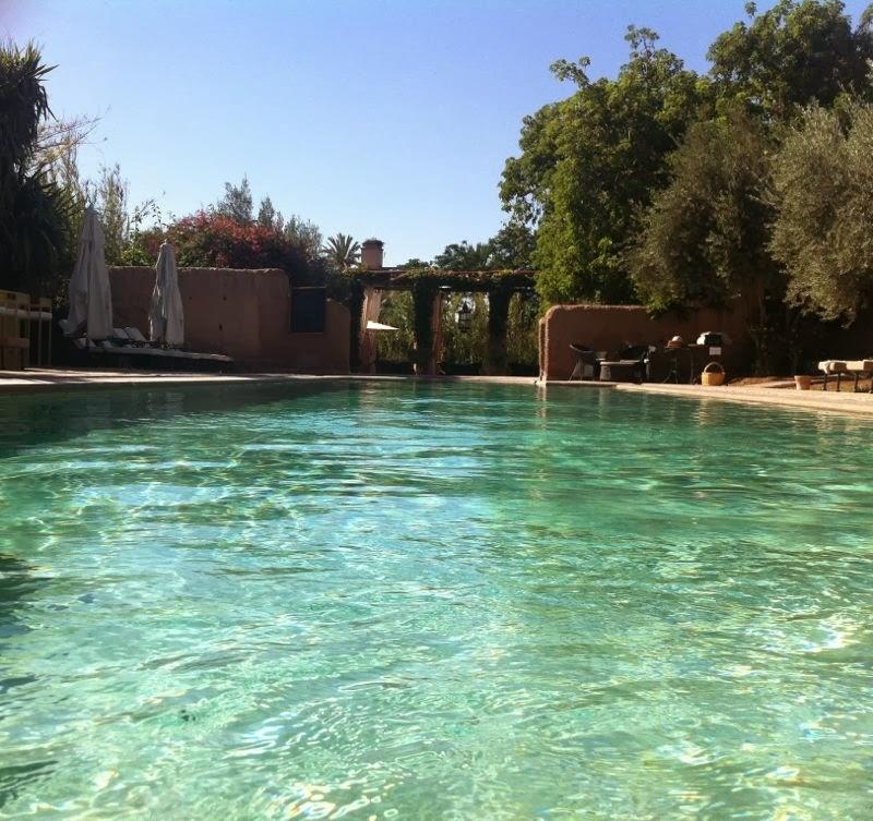 La piscine chauffée des Deux Tours à Marrakech en janvier....