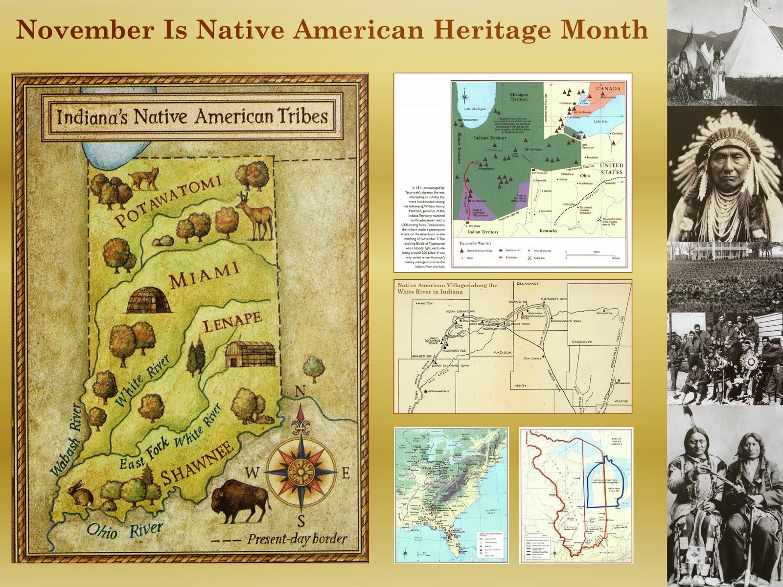 native american heritage month map exhibit at ball state university libraries
