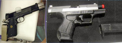 Airsoft Guns Discovered at (L-R) JFK & BOI