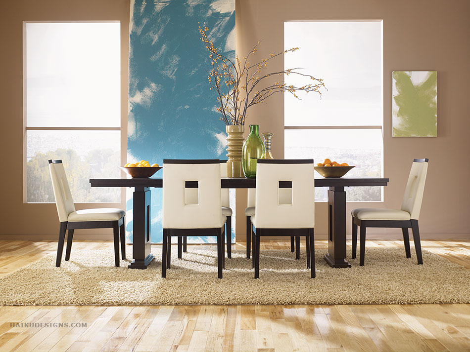 New asian dining room furniture design 2012 from haiku for Modern dining room design
