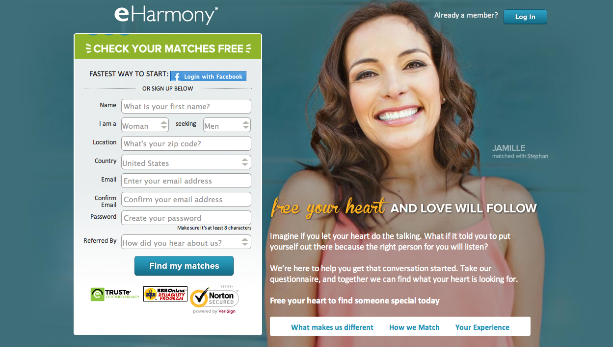 Dating websites like eharmony