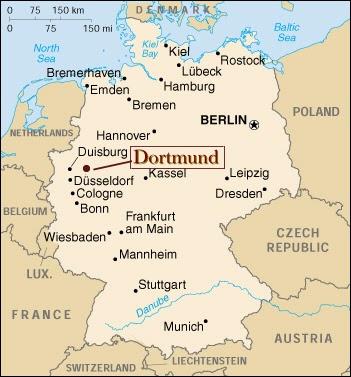 Dortmund Almanya Harita