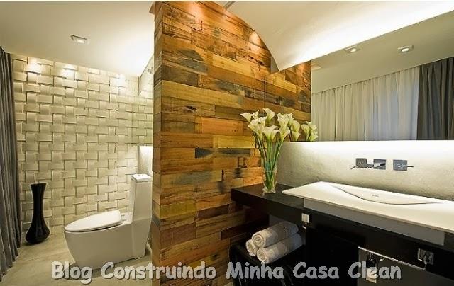 decoracao banheiro diy:Construindo Minha Casa Clean: Papel de Parede na Decoração! Confira