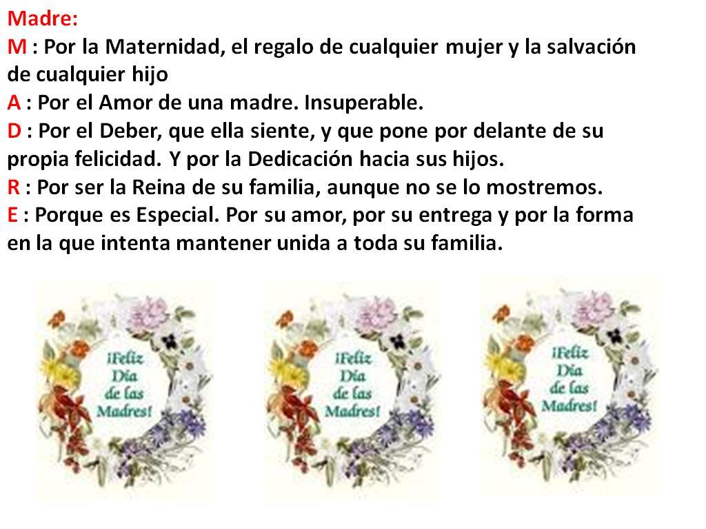 feliz dia de la madre a todas y cada una de nosotras que somos madres