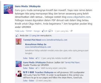 Guru Muda 1Malaysia promo Blog CiKGUHAiLMi