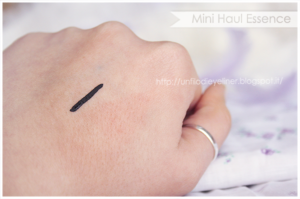 essence Waterproof eyeliner stays no matter what swatch